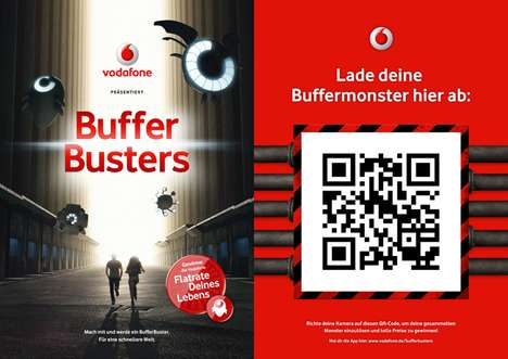 Monster Busting Phone Apps - The Vodafone Buffer Busters Turns Your City into a Video Game