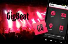 Concert-Finding Apps - The GigBeat App Analyzes Your Music Library to Find the Right Shows for You