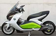 Commuter Eco-Scooters (UPDATE) - The BMW Motorrad E is Designed for Freeway Driving