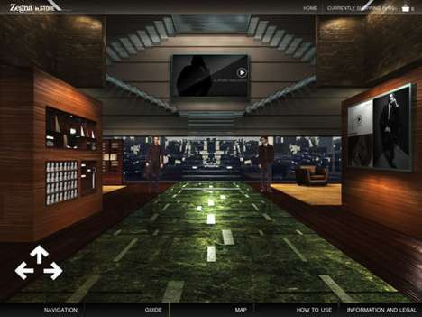 Virtual 3D Shopping Apps - The Zegna inSTORE Allows Luxury Browsing From Your iPad