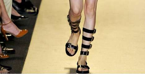 Buckling Gladiator Sandals - Michael Kors Spring Collection Takes a Walk on the Wild Side