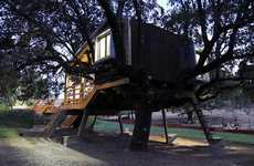 Foliage-Friendly Abodes - The Rooted Tree House Integrates Itself into Nature