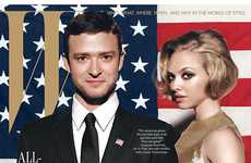 Constitutional Celeb Covers - The W Magazine October Issue is a Stylish Presidential Parody