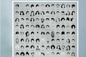 The Pop Chart Lab Poster of Notable Hollywood Haircuts Features Iconic Outlines