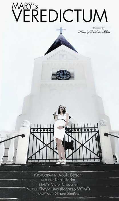 Pregnant Purity Portraits - The Shayla Lima Fashion Bless Shoot is Seductively Sacrilegious