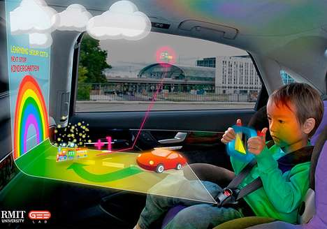 Projected Backseat Entertainment - GEELab Creates a Holographic Game for Children in the Car