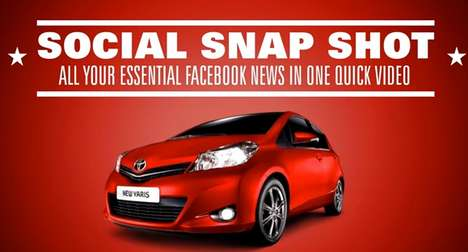 Social Network Filters - The Toyota 'Social Snap Shot' App Personalizes Your News Feed