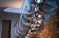 Anatomical Step Structures - The Philip Watts Stair Design Explores the Body
