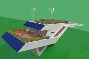 The Michael Jantzen Solar House Design is Aesthetically Pleasing
