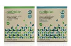 Leafy Matrix Merchandizing - Earthwise Packaging Creates a Prominent Pattern on the Shop Shelf