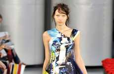 Frenzied Flowery Fashions - The Mary Katrantzou Spring is a Blend of Garden Colors and Chaos
