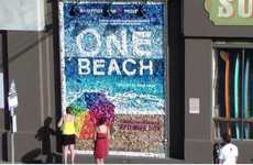 Lively Litter Campaigns - The 'One Beach' Trash Mosaic Promotes Turning Garbage into Gold