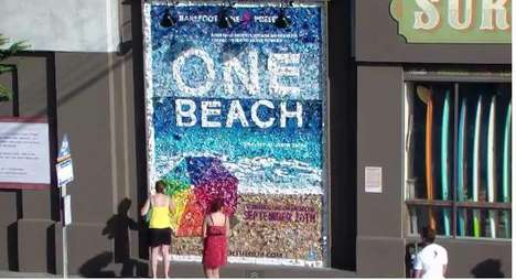 One Beach Trash Mosaic