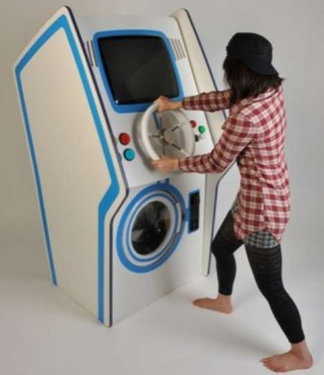 Playable Clothes Cleaners - The Amusement Washing Machine Lets You Game Through the Spin Cycle