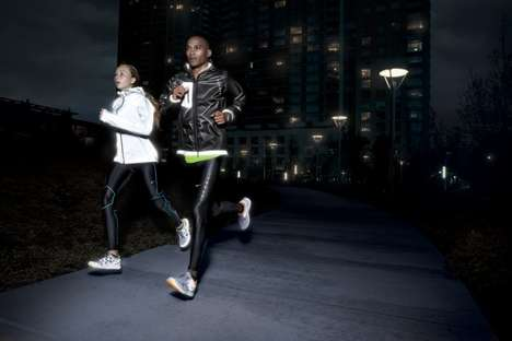 Midnight Jogging Gear - Nike Running Holiday 'Dark' Collection Enhances Visibility for Runners