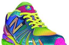 Luminous Chromatic Kicks - The New Balance Revlite Rainbow is for Fearlessly Eccentric Joggers