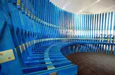 Accordion-Inspired Seats - The Fabio Capello Cloister Bench is Very Unconventional