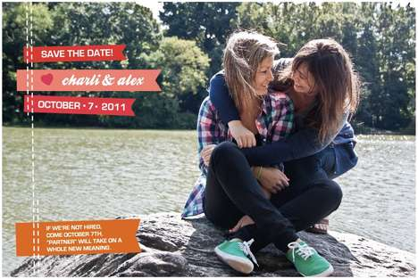 Heterosexual Hiring Pleas - 'Save the Dates' Hopes to Find Work for Two Engaged Girls