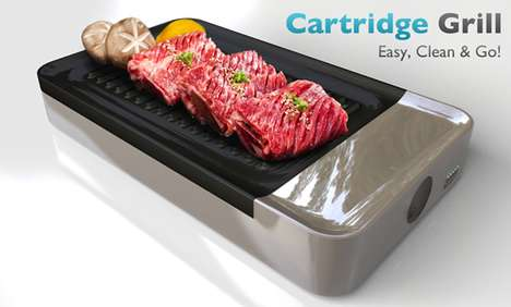 Retro Gamer Grills - The Cartridge Grill is Inspired by Video Games of Yesteryear