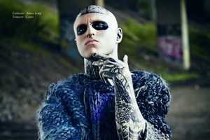 Zombie Boy Poses for Schön! Magazine 'Sans Ink'