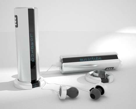 Battery-Inspired Melody Players - The Music Tube Has a Futuristic and Simplistic Design