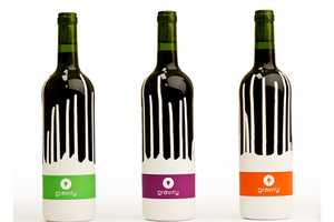 Gravity Wine Packaging Plays with an Upturned Painted Logo