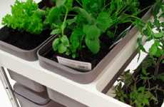 Tiered Trolly Gardens - The Mobile Food Garden Caters to Apartment Tenants with Green Thumbs