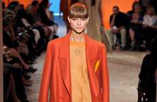 Smart Rust-Colored Ensembles - Hermes Spring Collection Plays on Variations of Orange