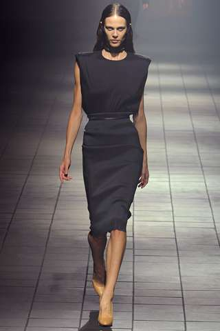 Glam Gothic Garments - The Lanvin Spring 2012 Collection is Sleek and Sophisticated