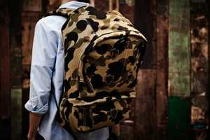 Bape 1st Camo Mountain Backpack Rocks Camouflage Stylishly