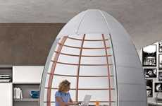 Egg-Shaped Enclosures - The Tisettanta Nu-Ovo is a Space Creating Pod for Your Pad