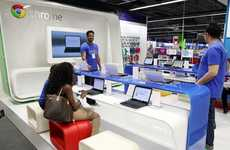 Physical Search Engine Shops - Google Chrome Zone Pop-Up Opens in London