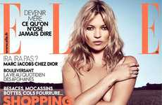Topless Celebrity Editorials - The Kate Moss Elle France Shoot is Seriously Seductive