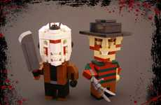 Bricked Halloween Figurines - Legohaulic Creates Playul Figures Based on Iconic Characters