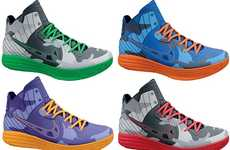 Military Courtside Kicks - Light up the Court with the Nike Lunar Hypergamer QS Camo Pack