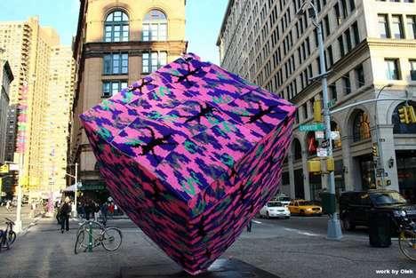 Olek Crocheted Astor Place