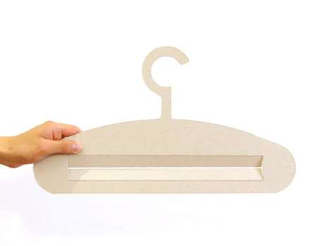 Cardboard Coat Hangers - The Memory Hook is Unmatched by Plastic and Metal Racks