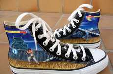 Vintage Brawling Arcade Kicks - The Street Fighter Converse Chucks Brings Back Nostalgic Gaming