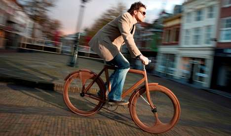 Tenacious Timber Rides - Jan Gunneweg Developed a Wooden Bike Strong Enough to Travel Anywhere