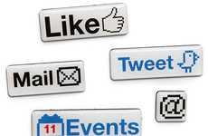 Social Media Meal Stickies - The Social Media Fridge Magnets will Keep You Posting All Day Long