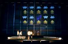 Massive 8-bit Interactions - The World's Largest Space Invaders Game is the Future of Gaming
