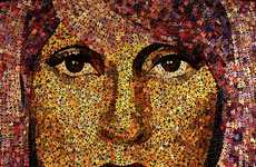 Puzzled Pop Star Mosaics - Doug Powell's Duzzle Art Creates Portraits Out of Jigsaw Puzzle Pi