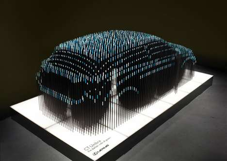 Hybrid Hues Sculptures - The NONdesigns Lexus Shows the Highlights of a Car