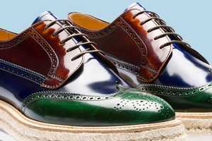 The Prada Tricolor Lace-up Shoes are a Treat For the Hipsters