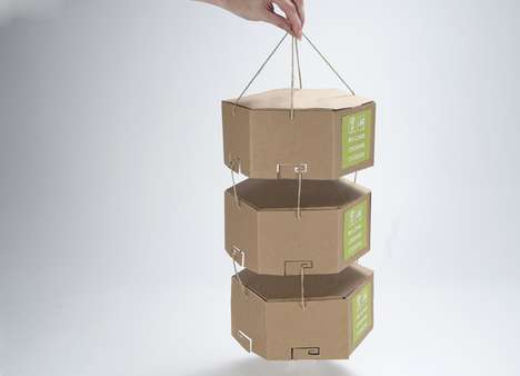 Tied Eco Takeaway - Take-Out Packaging by JoAnn Arello Contains All Food, Condiments and Cutlery