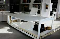 Doze-Friendly Desks - '1.6 sm of Life' Accommodates a Career and Catnaps in the Same Space