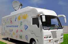 Cyber Cafe Coaches - The Google Internet Bus Connects Rural Indians to the Rest of the World
