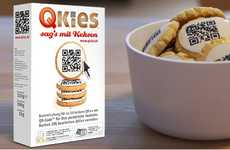 Digitally-Encoded Desserts - QKies QR Code Icing Links the Consumer to the Baker's Virtual Message