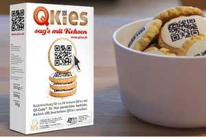 QKies QR Code Icing Links the Consumer to the Baker's Virtual Message