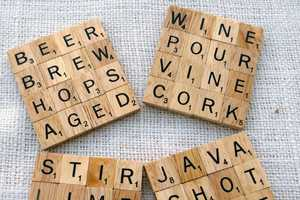 Scrabble Drink Coasters Add the Playful Puzzle to Your Drinks